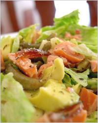 Салат из сёмги и авокадо