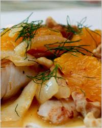 Салат из рыбы и апельсинов