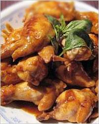 закуска из крылышек обжаренных в медовом соусе