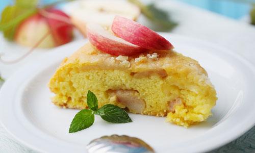 рецепт шарлотки с яблоками и сливочным маслом в духовке
