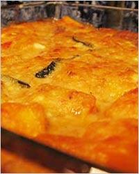 Запеканка из тыквы и мяса с сыром