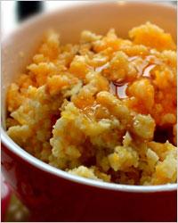 Каша из тыквы, пшена и апельсина