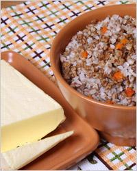 Гречневая крупа и сливочное масло продукты повышающие  иммунитет