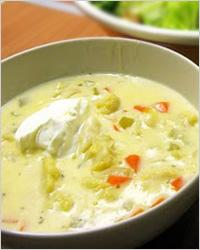 Суп из цветной капусты с белым соусом