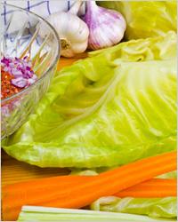 разобрать кочан капусты на отдельные листики