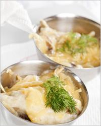 жульен, приготовленный из сушеных грибов