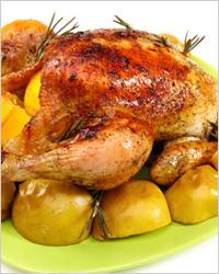 Курица в горчично-медовом соусе с картофелем