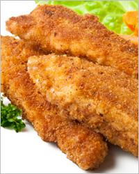 Куриное филе в панировке с горчичным соусом