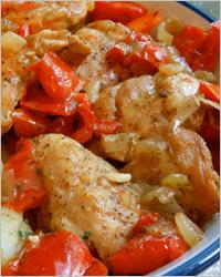 Блюдо из куриного филе в мультиварке