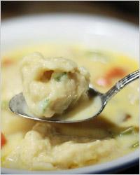 Картофельный суп с клёцками (белорусская кухня)