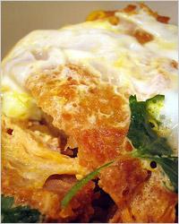 Свиной шницель с перепелиным яйцом