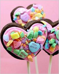 Печенье «Сердечки на палочке»