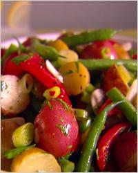 Тёплый салат из овощей в мультиварке