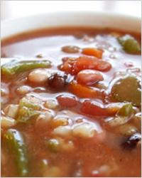Запеченый постный суп