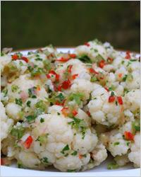 Салат из риса и цветной капусты