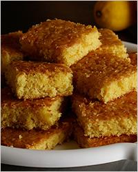 Лимонный пирог с орехами