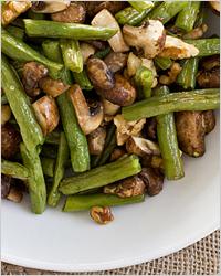 Блюдо из фасоли с грибами