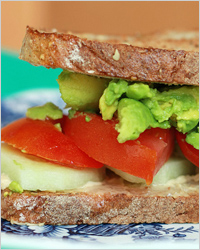 Бутерброд c авокадо