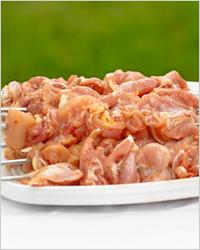 Суп из тыквы и фасоли с куриными шашлыками в луковом кляре – кулинарный рецепт