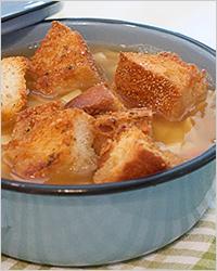 суп с сыром и яйцами