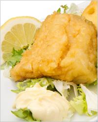 Ассорти из морской рыбы и морепродуктов в кляре