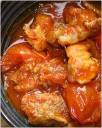 Жаркое из курицы с помидорами