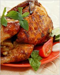 Курица гриль на подставке в духовке рецепт