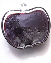 Желированное варенье из чёрной смородины