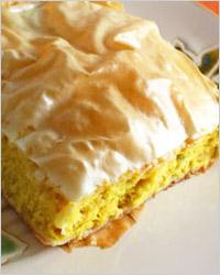 Греческий пирог с тыквой
