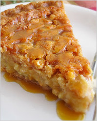Пирог-перевёртыш с яблоками