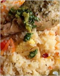 Куриные ножки или крылышки с рисом в мультиварке
