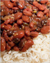 красная фасоль с рисом