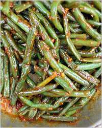 Салат из зелёной стручковой фасоли