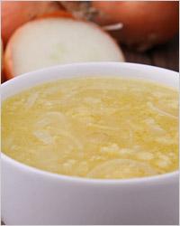 Суп картофельный с плавленым сыром и перловкой