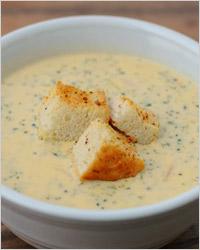 Суп с сыром, молоком и перцем