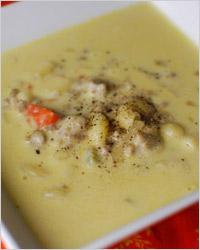 Суп из языка с сыром