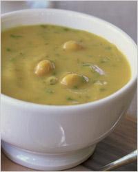 Суп фасолевый с сыром