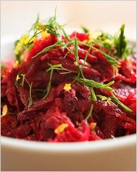 Салат из свёклы с овощами «Рубиновый»