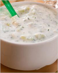 Дзадзики из сметаны (белый соус для макания)