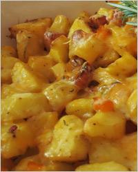 Картошка с курицей и сыром