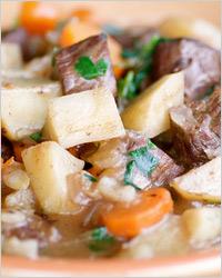 Картошка с мясом и пивом