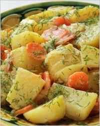 Картошка с овощами