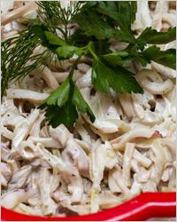 Салат с кальмарами лагуна изоражения
