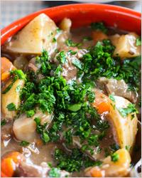 Жаркое из картофеля с фаршем и грибами