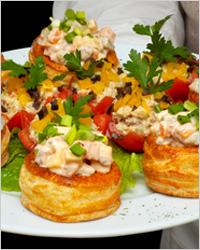 Тарталетки с овощной начинкой