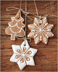 Новогоднее печенье «Снегопад»