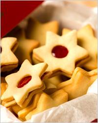 Новогоднее печенье с джемом