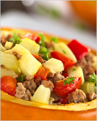 тыква с мясом и овощами