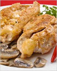 Котлеты куриные с начинкой из грибов
