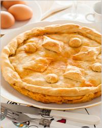 Potato pie with meat